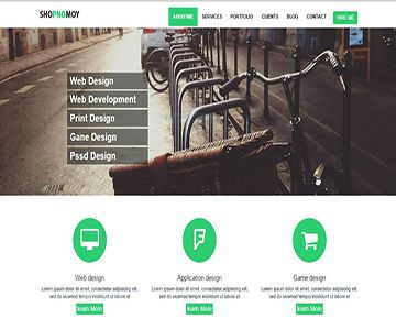 free bootstrap portfolio templates by readytheme see more this templet was developed using 100 css html both of w3org