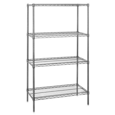 "60"" x 36"" x 54"" - 4 Shelf Wire Shelving Starter Unit, 1 EACH PER CASE by Plexon Products. $517.99. 60"" x 36"" x 54"" - 4 Shelf Wire Shelving Starter Unit, 1 EACH PER CASE, NSF certified wire shelves assemble in minutes without any tools. Chrome plated, steel shelving can adjust in 1"" increments. Starter Units come complete with four posts and four adjustable shelves. Additional Wire Shelves and Accessories sold separately. Mobilize your wire shelving by adding Swive..."
