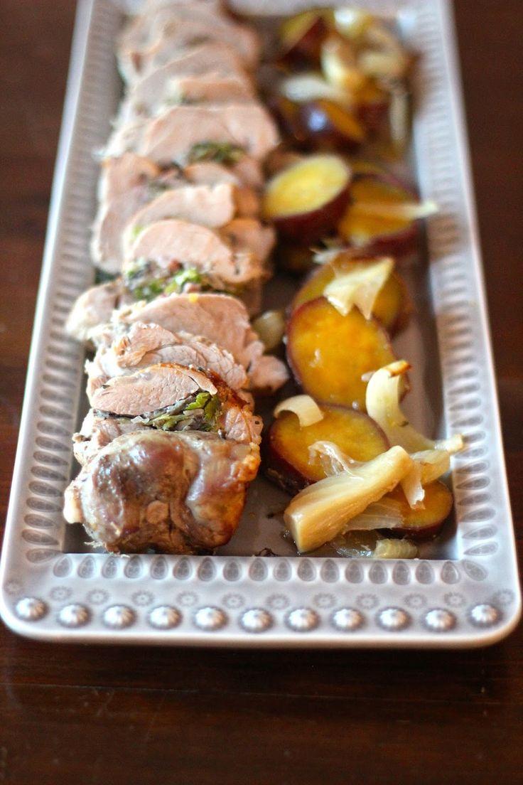 As Minhas Receitas: Lombinho de Porco Recheado com Alho Francês, Cogumelos e Bacon
