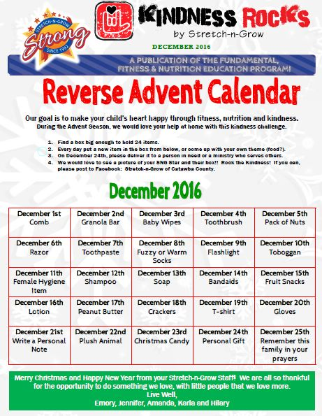Reverse Advent Calendar Ideas : Ideas about downloadable calendar on pinterest