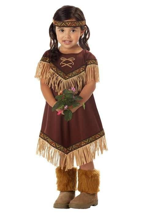 Lil' Indian Princess Pocahontas Toddler Halloween Costume #CaliforniaCostume #CompleteCostume  3T - 4T  $17.87
