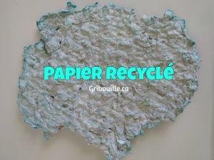 Papier recyclé - activité sensorielle pour enfants par Gribouille éducatif