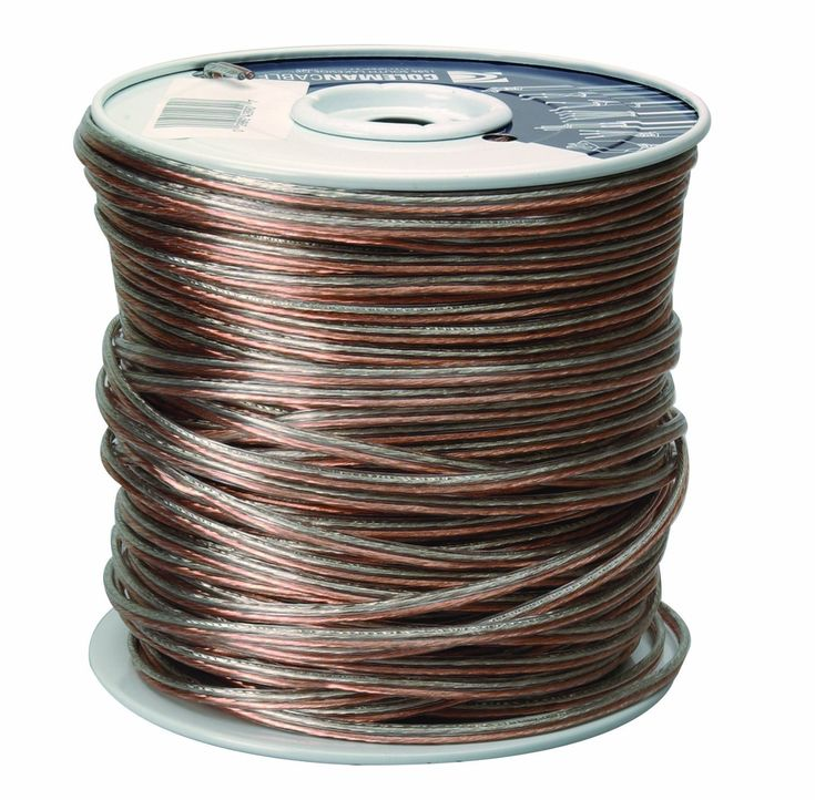 Coleman Cable 94601-66-18 Clear Speaker Wire, 500'