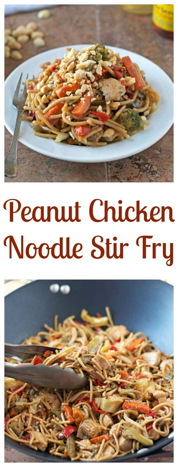 Peanut chicken, Stir fry and Healthy chicken stir fry on Pinterest