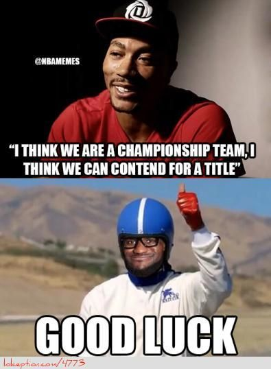 Derrick Rose vs. LeBron James! - http://nbafunnymeme.com/derrick-rose-vs-lebron-james/
