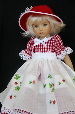 """Lucky Ladybug OOAK Outfit for Effner 13"""" Little Darling by Glorias Garden 