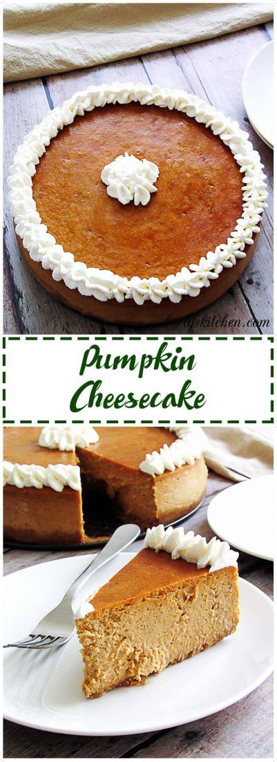 Pumpkin cheesecake is quite possibly one of the BEST seasonal recipes ...