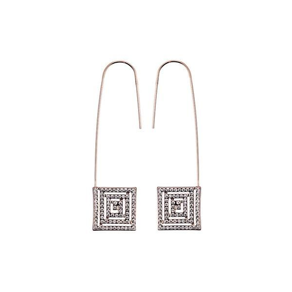 Square Illusion Studded Earrings - jeweleen - 1