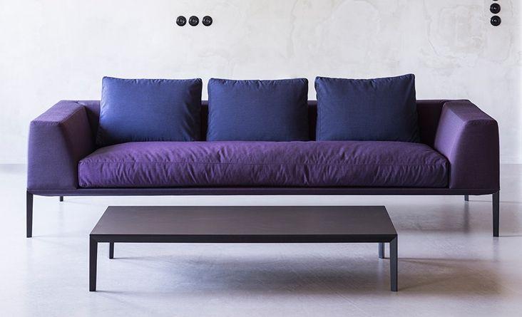 NOTI sofa | SOSA collection | design by #PiotrKuchcinski #upholstered #3-seater #loft #SoftSofa #HotelFurniture #modern #elegant #LongLegs