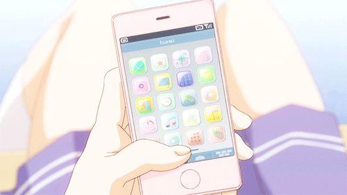 Anime kawaii gif tumblr anime gifs - Anime girl on phone ...