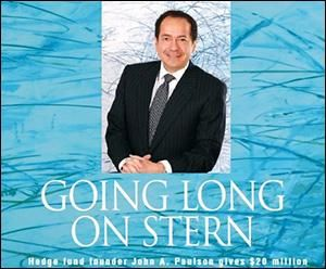 John Paulson, Hedge Fund Manager, Receives Adoring Praise in the 2010 Spring/Summer Issue of the Alumni Magazine of the Stern School of Business