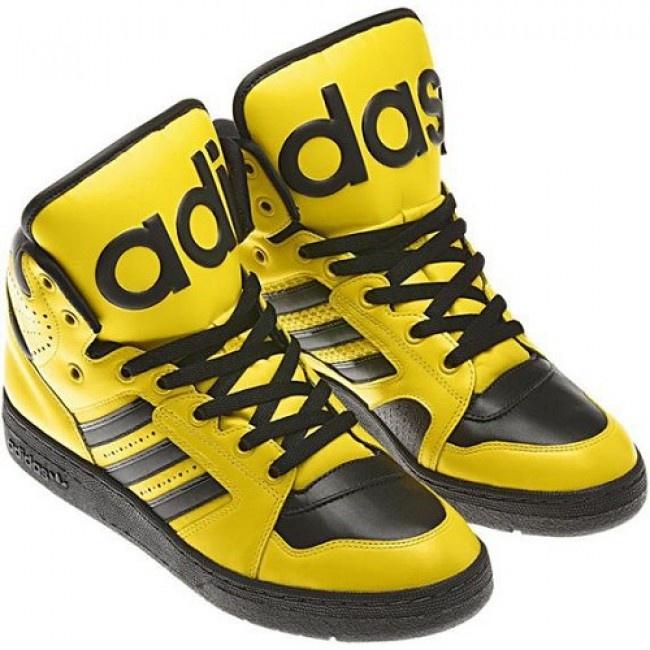 Women Jeremy Scott x Adidas Originals JS Instinct Hi Sun / Black For € 63.40 Go To: http://www.jeremyscottvip.com/fr/