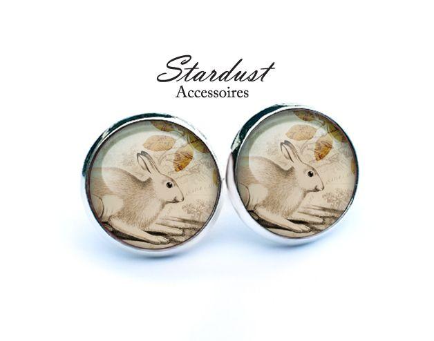 Ohrstecker silber ✿ Klopfer ✿ von Stardust Accessoires auf DaWanda.com