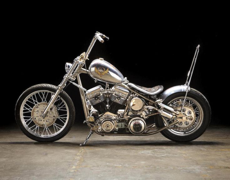 """The Machine"" rigid chopper by Indian Larry Motorcycles 2010 | Harley-Davidson ""Panhead"" type engine | Raw aluminium body | H-D narrow glide fork w/ streering damper | One-off rigid frame | Engraved pushrod rings, brake disks, seat | via Silodrome.com"