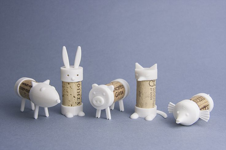 Cork Pals are toys made from a 2 piece 3Dprinted set and a used wine cork. They are designed to be printed from PLA - 100% biodegradable bio...