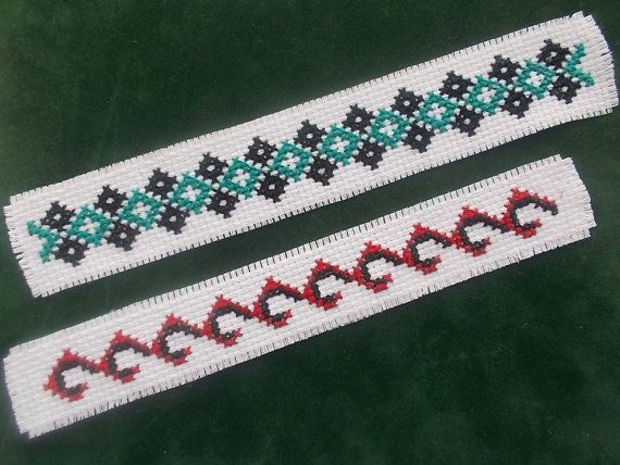 2 Bookmark Cross Stitch Pattern Set by CamisTheCrossStitch on Etsy