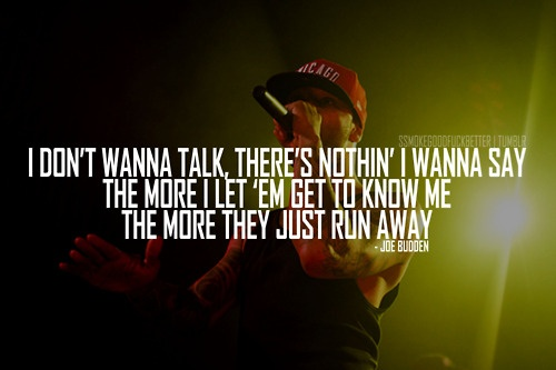 Joe Budden, Follow My Lead   It's one of those nights... his music helps.