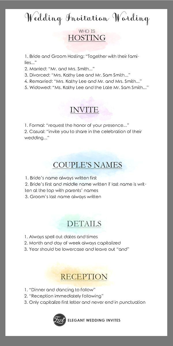 Wedding Invitation Wording Templates Wedding Ceremony Invitations Wedding Invitation Etiquette Words Simple Wedding Invitation Wording