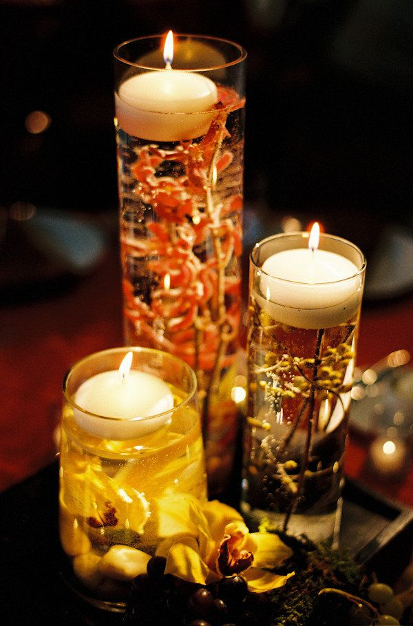 Floating candles and sunken florals ~ beautiful ... Photography by jenfariello.com, Floral Design by patsfloraldesigns.comDecor, Floating Candles, Floral Design, Wedding Ideas, Tables Centerpieces, Autumn Weddings, Wedding Centerpieces, Fall Wedding, Center Pieces