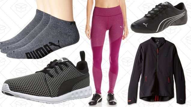 Spring has officially sprung so its as good a time as any to stock up on new workout clothes with todays one-day PUMA sale on Amazon. Inside youll find shoes clothing and accessories for men women and kids all marked down to great low prices. But this is a one-day thing so dont dawdle. Read more...