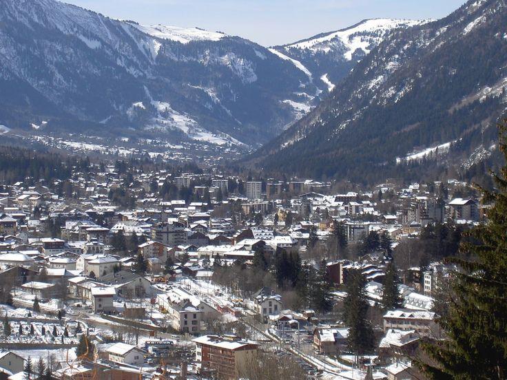 View of Chamonix Mont-Blanc