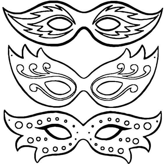 Coloriage Masques De Carnaval A Imprimer Gratuit Coloriage