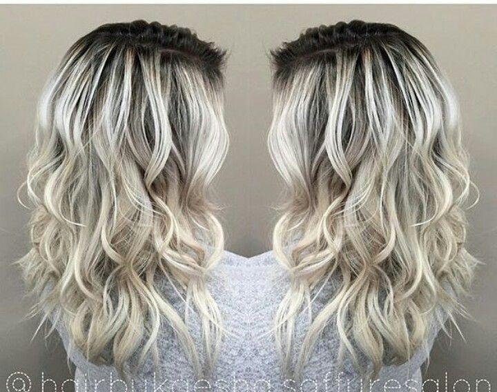 High Contrast Color Melt Let Down Your Hair Hair