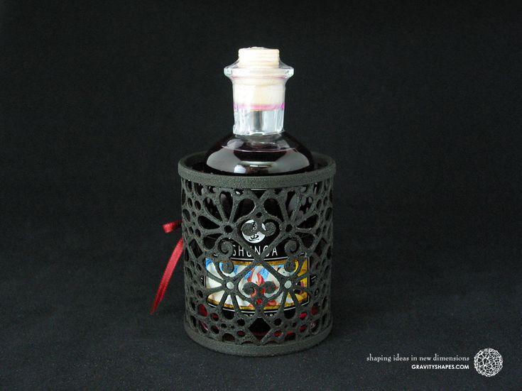 SHUNGA Intimate Kisses-holder incl. Aphrodisiac Oil in black Mosaic Design. #3Dprints