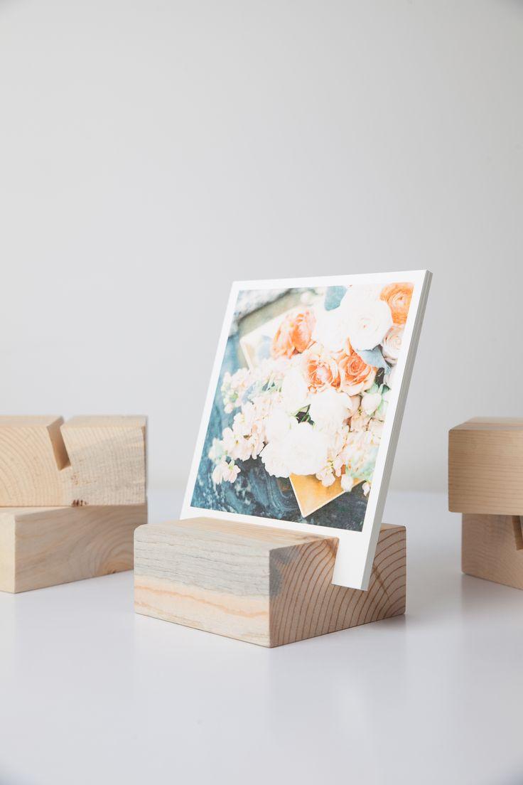 Dress up your desk. Print photos & flip a photo each day for instant gratitude. // Woodblock + Print set #givingthanks