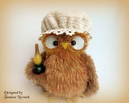 Игрушки животные, ручной работы. Ярмарка Мастеров - ручная работа Ночная сова Боннетта - вязаная интерьерная игрушка. Handmade.