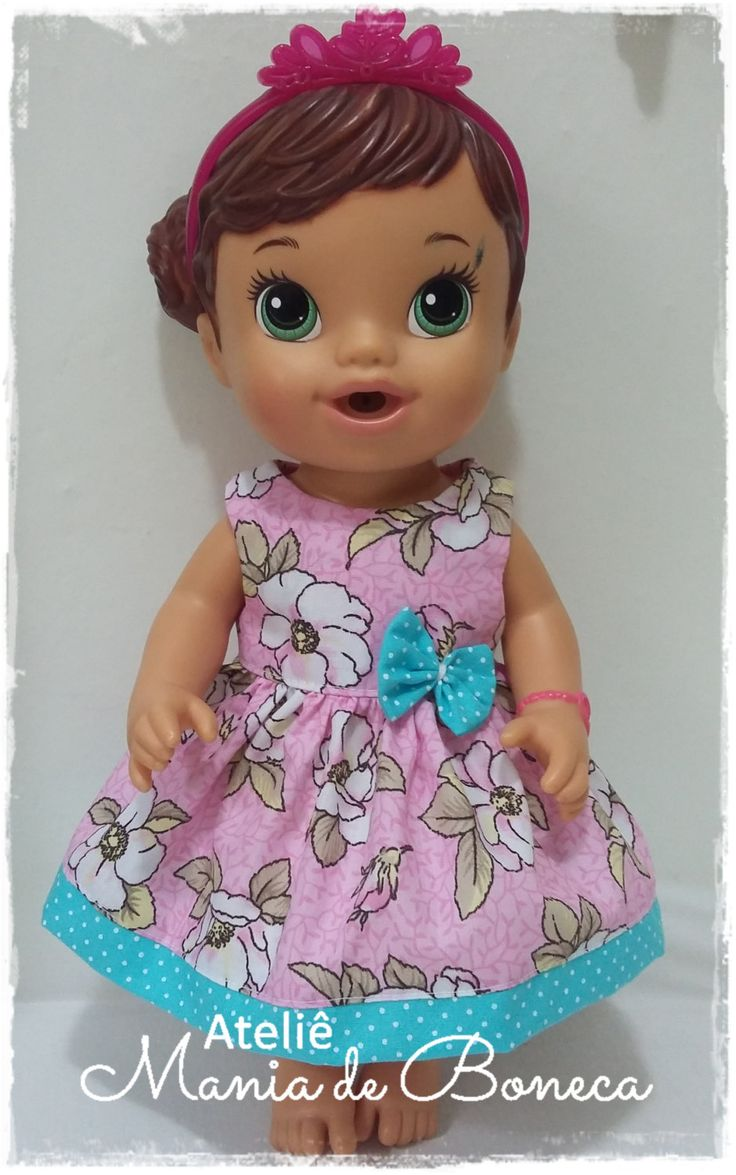 Dress for Baby Alive 12' by AtelieManiadeBoneca on Etsy
