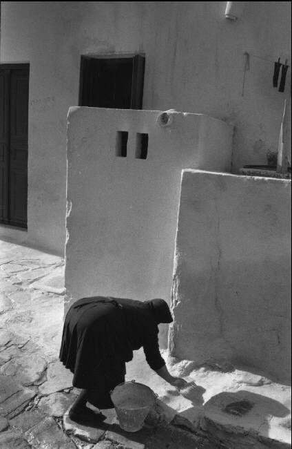 . Rene Burri 1957 GREECE. Island of Mykonos. 1957.