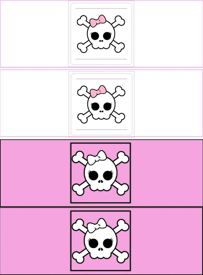 Pirat bursdag jente- DIY brus etiketter
