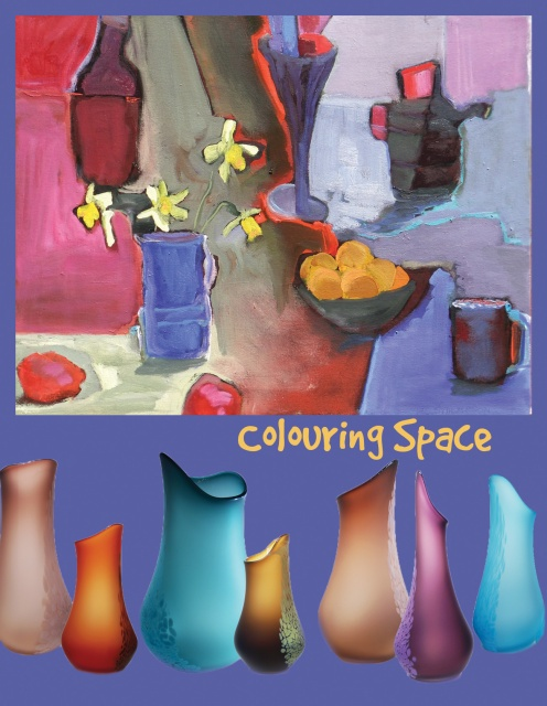 Colouring Space exhibition at Kingston Glass Studio & Gallery