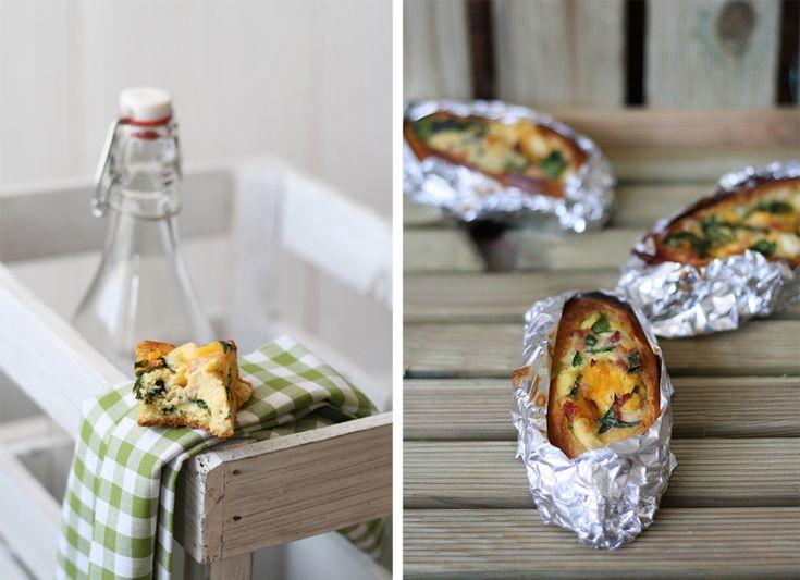 Stuffed bread: a picnic idea! From La Recetada de la Felicidad