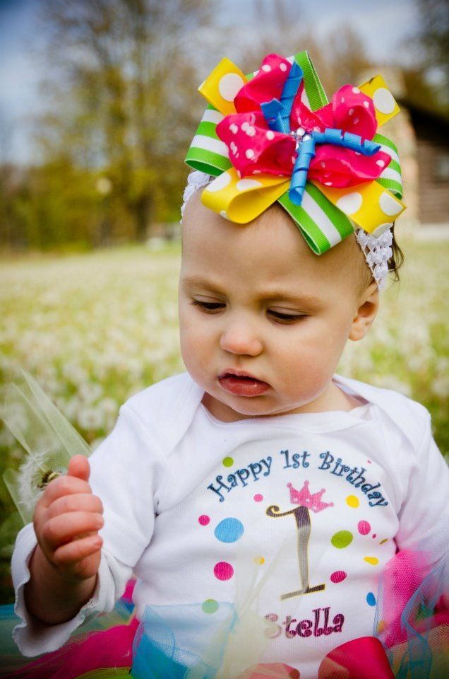 Colorful homemade bow #diy first birthday