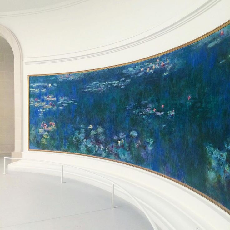 Monet in Musée de l'Orangerie, Paris, France - got to spend time in this room alone with no crowds… It was a once-in-a-lifetime experience