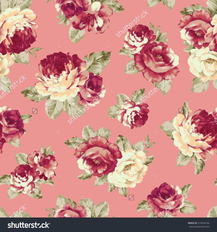 Rose Illustration Pattern - 379934182 : Shutterstock