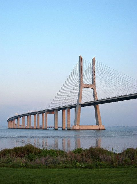 Vasco da Gama bridge over Tejo, Lisbon, Portugal