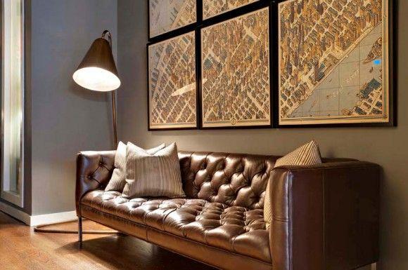 palette living room leather color art Japanese Trash masculine design inspiration