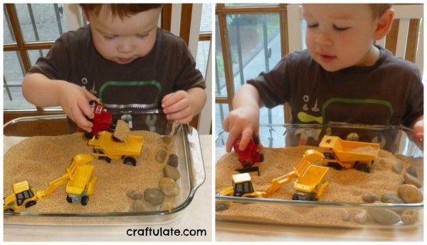 Construction Site Sensory Play