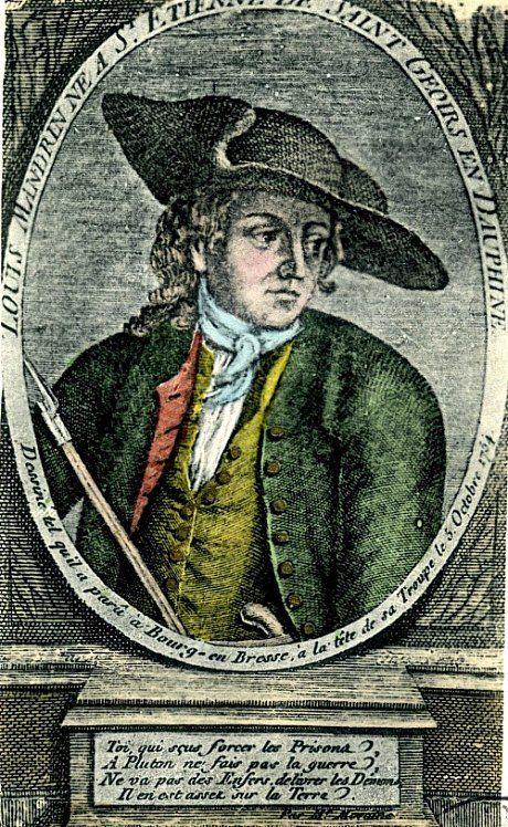 Portrait de Louis Mandrin, en buste. 26 mai 1755 : supplice du contrebandier Louis Mandrin. Histoire de France. Patrimoine. Magazine