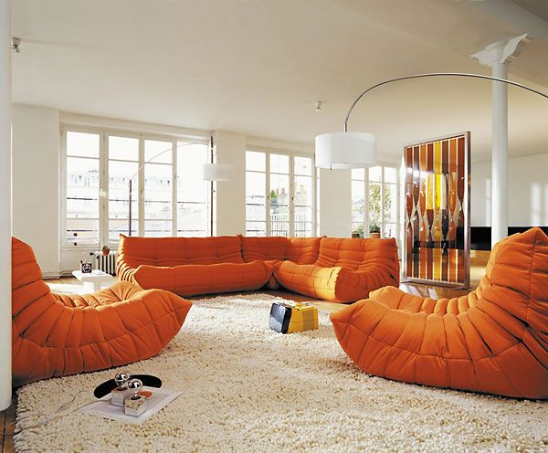 Togo Collection by Ligne Roset Modern Arm Chairs Los Angeles
