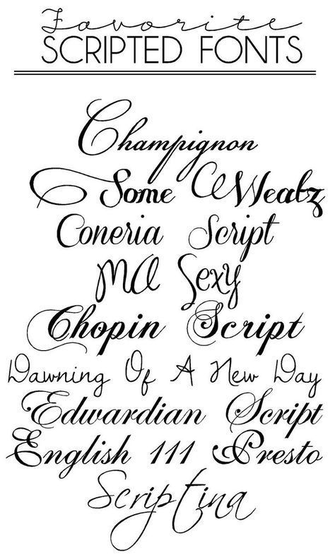 Cursive Tattoo Calligraphy Fonts