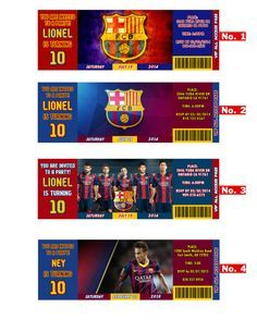 FC Barcelona Team, Messi or Neymar birthday Invitation soccer team, digital files ONLY