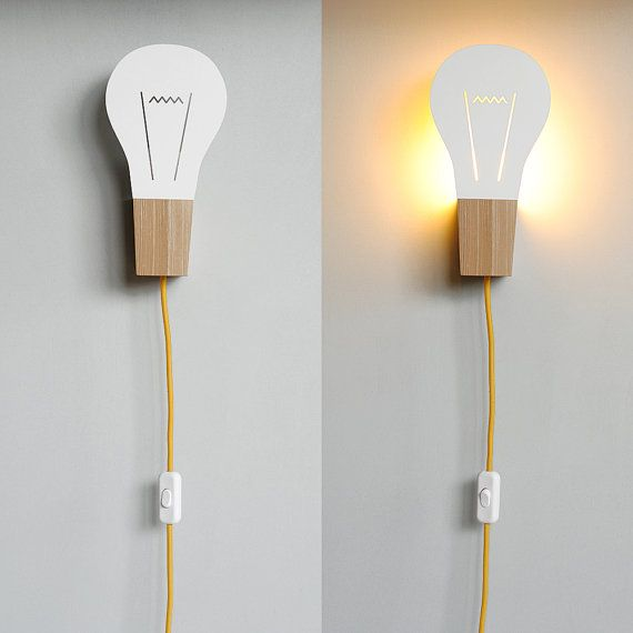 Wall Lamp BULB by maddadesign on Etsy