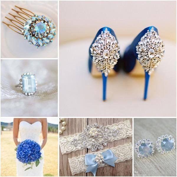 """De ce trebuie sa poarte miresele ceva albastru la nunta? Care este sensul traditionalului: """"Something old, something new, something borrowed, something blue"""" (ceva vechi, ceva nou, ceva imprumutat, ceva albastru)? Ei bine, totul are legatura doar cu aceasta rima veche englezeasca! E lucru cert ca mireasa trebuie sa poarte aceste patru obiecte in ziua nuntii, doar pentru ca se spune ca-i aduc noroc."""