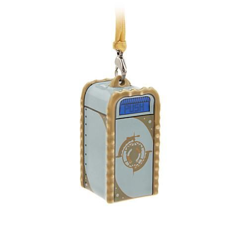 This is the Walt Disney World Disneyland Tomorrowland trash can. It is featured as a nice addition to the Christmas ornament collection.  Add this festive rem