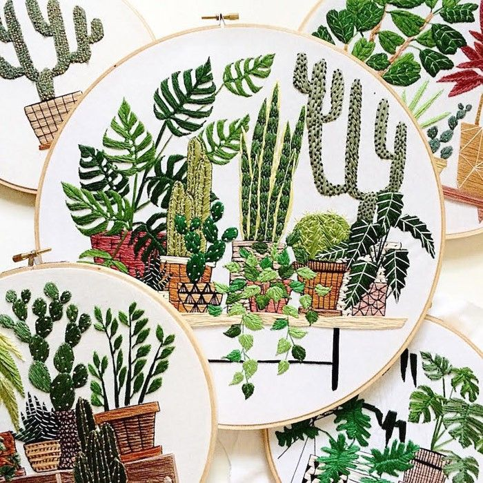 Sarah K Benning - Contemporary Embroidery Plants and Foliage