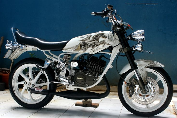 Modif RX King Warna Putih